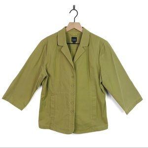 Eileen Fisher Organic Cotton Button Blazer Jacket